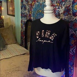Long Sleeve Black PINK Shirt